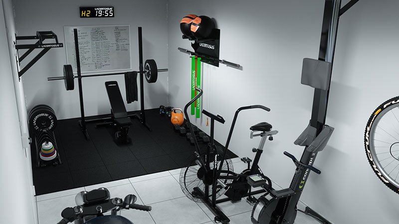 home gym lacertosus